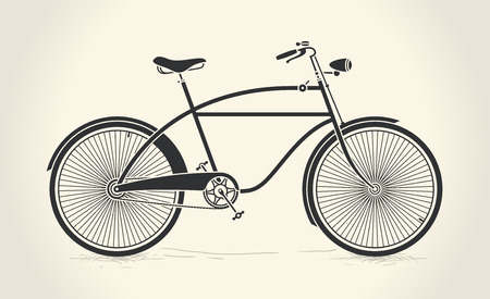 Vector illustration of vintage bicycle
