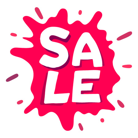 Sale splash typography design for banner advertising