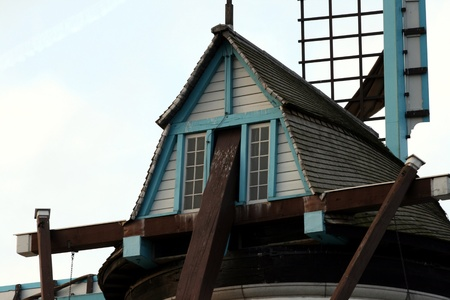 Old windmill house photo