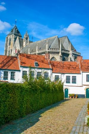 flanders:  Beguinage of Kortrijk in the flanders