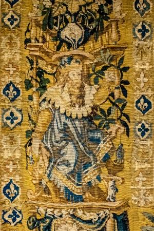 belgie: Detail of gobelin tapestry made in oudenaarde flanders belgium Stock Photo