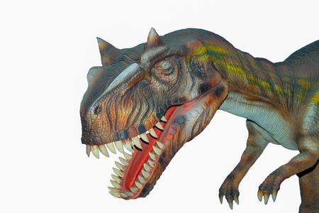 t rex: Eng geïsoleerde dino dinosaurussen T rex Stockfoto
