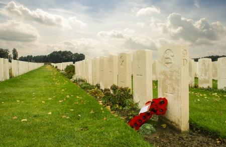 Tyne cot cemetery first world war flanders Belgium Stock Photo - 23672865