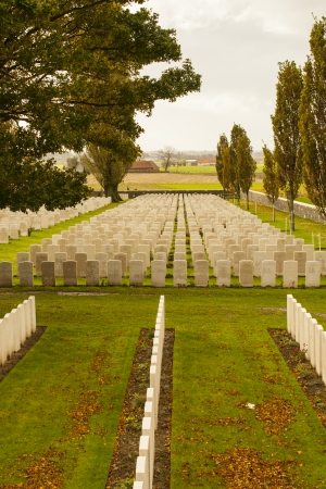 ypres: Tyne Cot Cemetery in Ypres world war belgium flanders