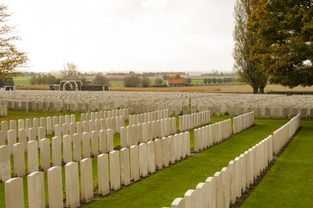 ypres: world war one cemetery tyne cot belgium flanders ypres