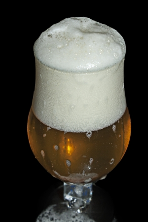 brewed: good beer brewed with love in belgium Stock Photo