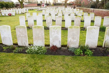 flanders: Cemetery world war flanders fields Belgium