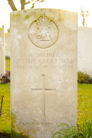 ypres: a soldier of the great war in flanders fields Stock Photo