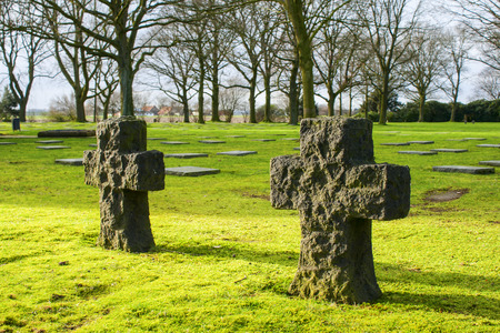 German cemetery friedhof in flanders fields menen belgium photo