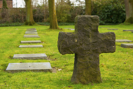 made in belgium: German cemetery friedhof in flanders world war one belgium