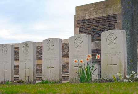 tomb of the unknown soldier: New British Cemetery in flanders fields great world war