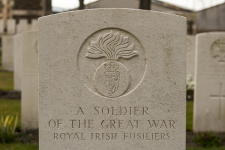 New British Cemetery Irish soldier flanders fields great war