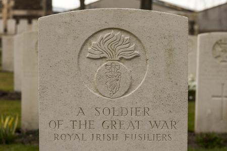 ypres: New British Cemetery Irish soldier flanders fields great war