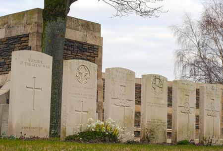 New British Cemetery in flanders fields Belgium