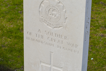 ypres: New British Cemetery in flanders fields great world war