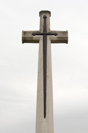 memorial cross: Fiandre croce commemorativa del cimitero ricordando Grande Guerra Archivio Fotografico