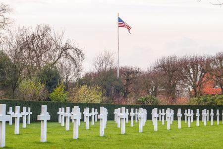 Flanders field American cemetery in Waregem Belgium Stock Photo - 26879787