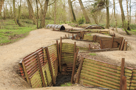 Trenches in Flanders Fields Ypres great world war one Hill 62 photo