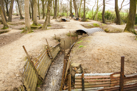 trenches: Trenches in Flanders Fields Ypres great world war one Hill 62