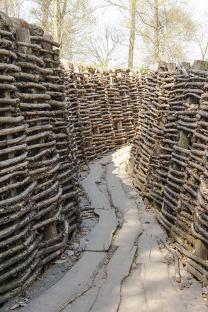 trenches: Bayernwald German Trenches great world war Flanders Belgium