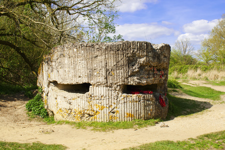 Hill 60 pillbox  world war 1 German bunker  photo