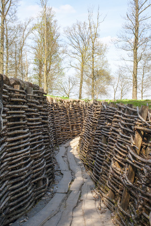 trenches: Bayernwald Trenches world war one flanders Belgium