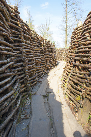 ypres: Bayernwald Trenches world war one flanders Belgium