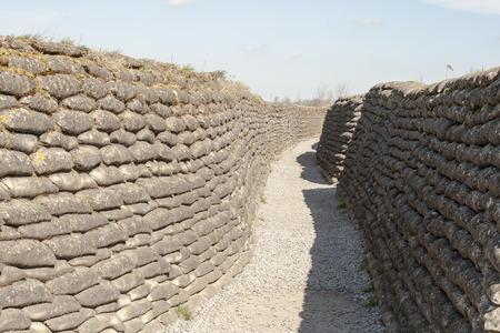flanders: Trenches of death WW1 sandbag flanders fields Belgium