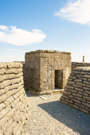 ypres: WW1 Bunker in the trench of death Belgium world war  Stock Photo