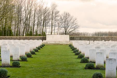 ypres: Soldier Cemetery world war one flanders Belgium Editorial