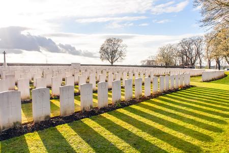 world war 1: Soldier Cemetery world war one flanders Belgium Editorial