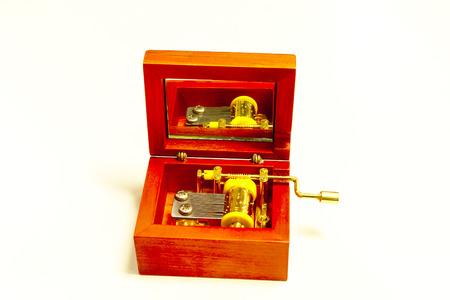 Old Music box metal toy retro vintage Reklamní fotografie