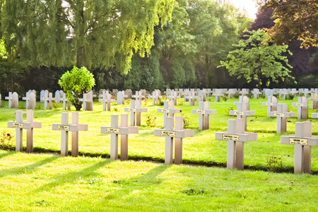 French cemetery from the First World War in Flanders belgium