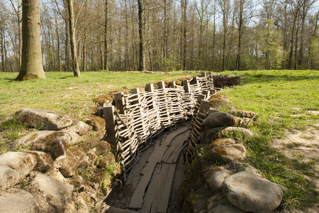 Bayernwald wooden trench of world war 1 Stok Fotoğraf