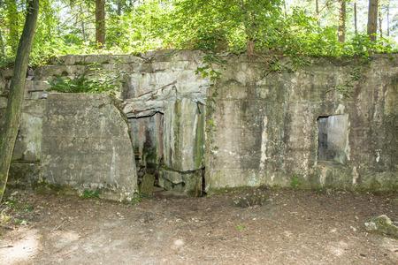 flanders: Bunker of world war 1 in flanders fields Stock Photo