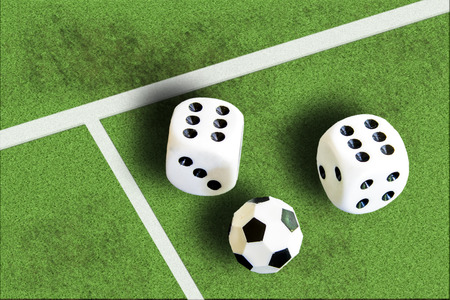 Gambling with dice and football win money photo