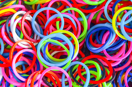 Colorful background Rainbow loom rubber bands fashion photo