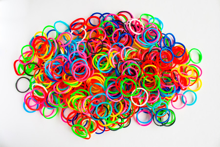 colorful background rainbow colors rubber bands loom photo