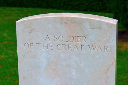 ベッドフォード家墓地の偉大な戦争の兵士