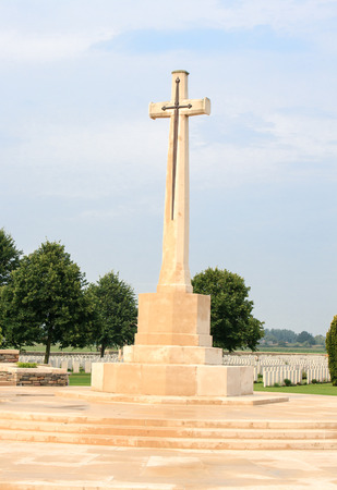 first australians: The  Cross of Sacrifice Bedford House Cemetery