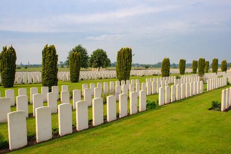 ypres: Bedford House Cemetery world war one Ypres Flander Belgium