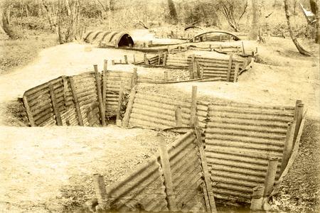 world war one trench belgium flanders Stok Fotoğraf