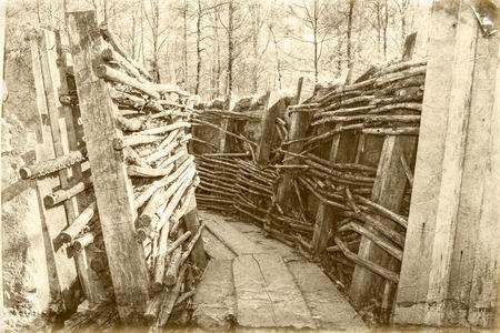 world war one trench belgium flanders 写真素材