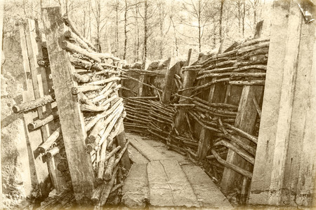 warfare: world war one trench belgium flanders Stock Photo