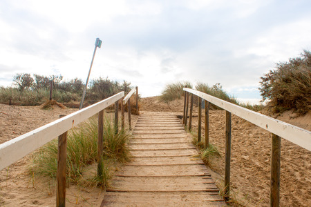 stairs lead to the top of the dunes