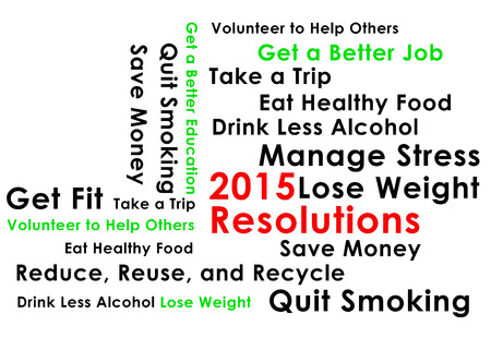 Resolution for the new year 2015 new start photo