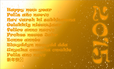 happy new year in eleven different languages photo