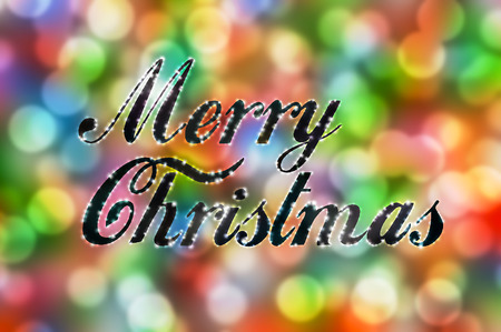 multi colors: Colorful merry Christmas bokeh background lights multi colors