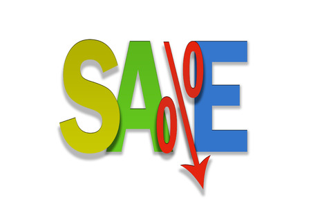 bargain: colored sale bargain lower percent price goes down