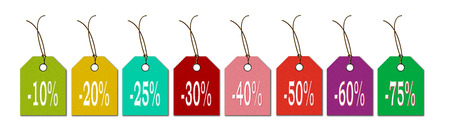 bargains: labels in the new colors for sale bargains and discounts